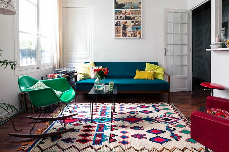 Les différentes matières d'un tapis berbère : coton, laine et synthétique